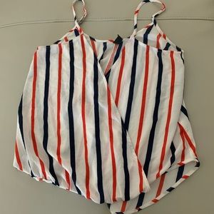 Windsor Red White & Blue Cross Front Cami M